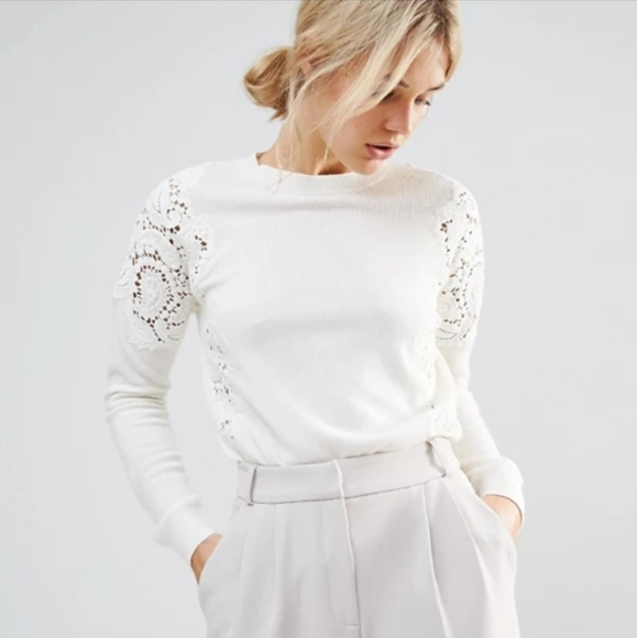Ted Baker London Sweaters - New Ted Baker Lace Shoulder Jumper Sweater Small
